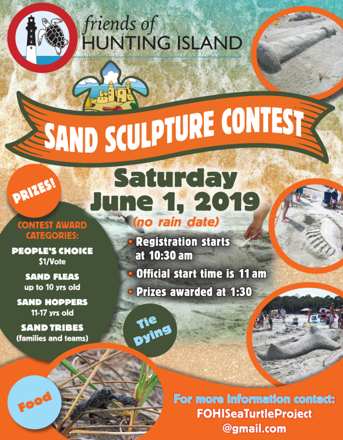 Hunting Island sand sculpting contest hits the beach June